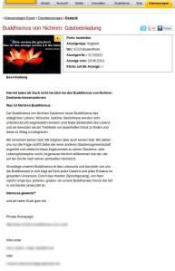 Screenshot Einladung